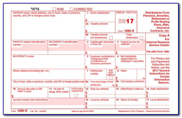 Printable 1099 Form 2017 Irs.gov