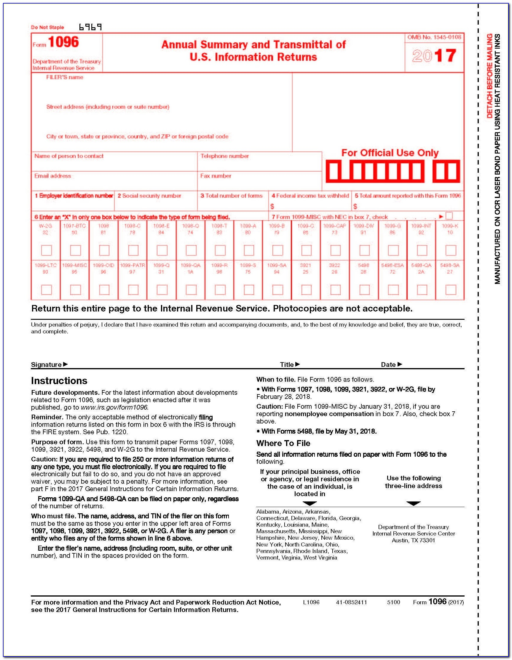 Free Printable 1099 Form 2017 Awesome Form Part 375