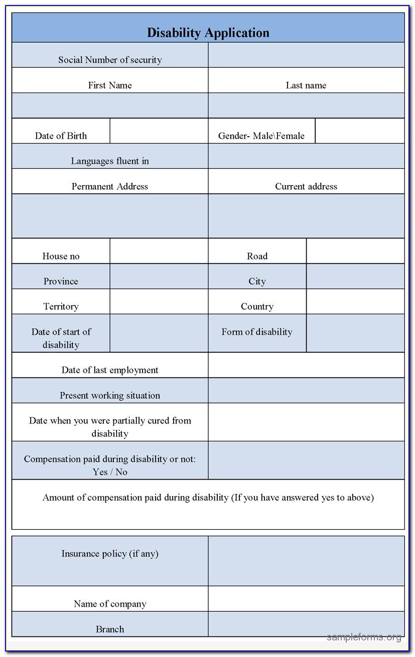 Printable Edd Disability Claim Form