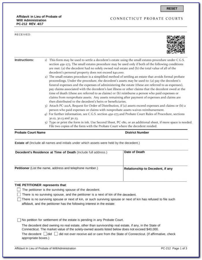 Probate Code 13100 Form