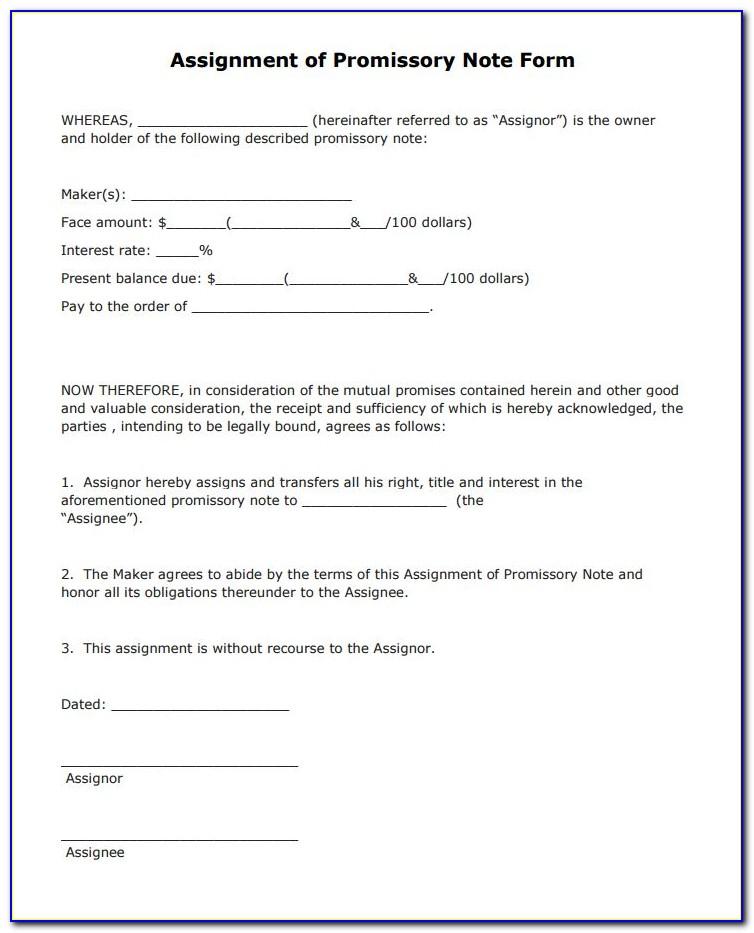 Promissory Note Blank Form