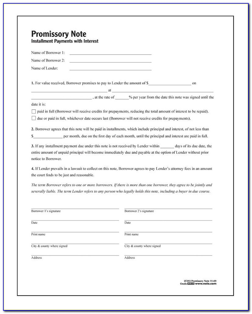 Promissory Note Form Philippines