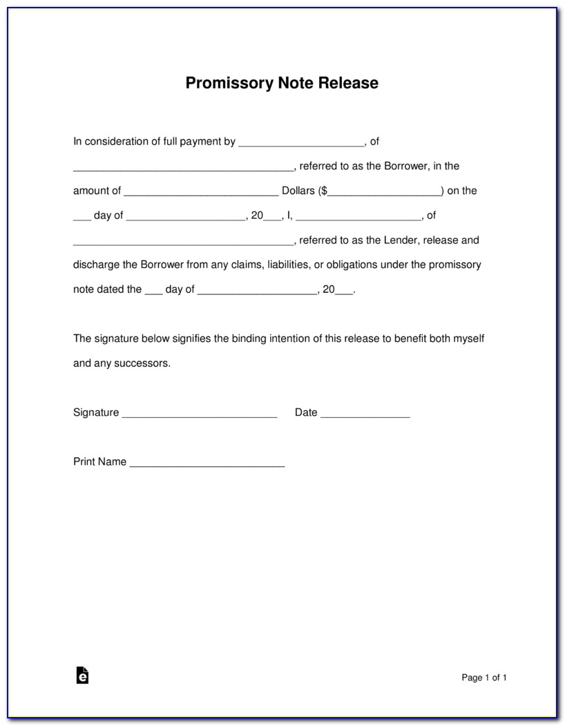 Promissory Note Format India