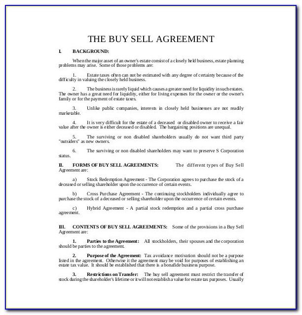 Property Buyout Agreement Form
