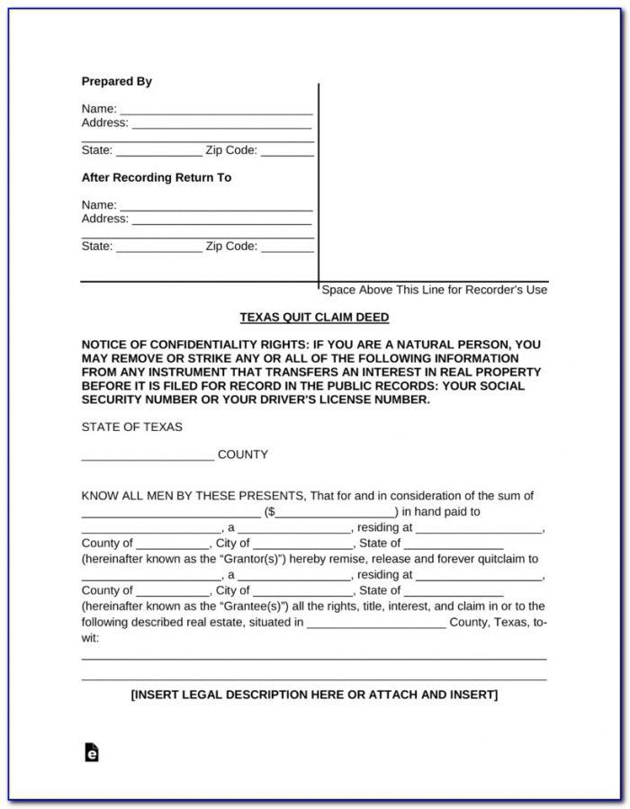 Quick Claim Deed Form Az