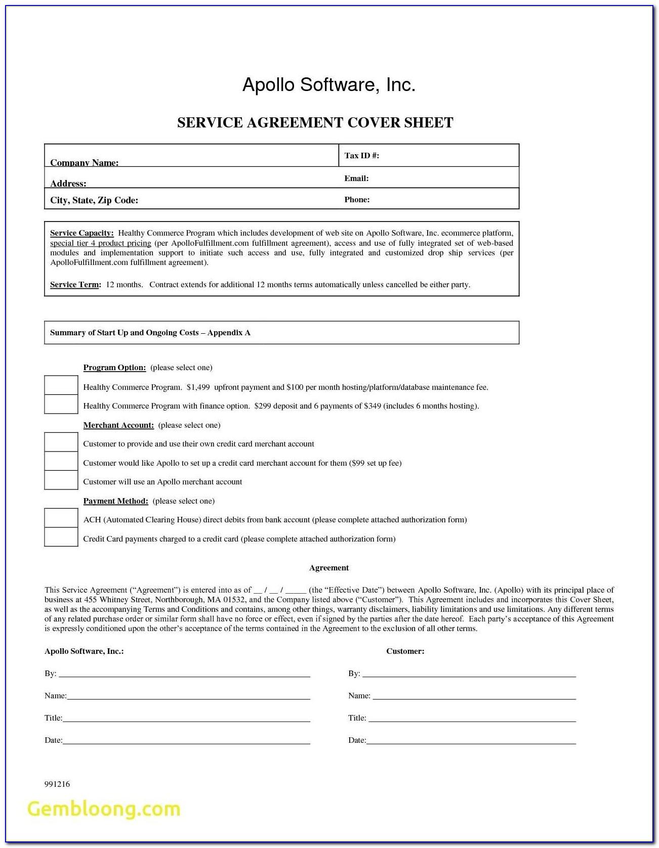 Recurring Ach Debit Authorization Form