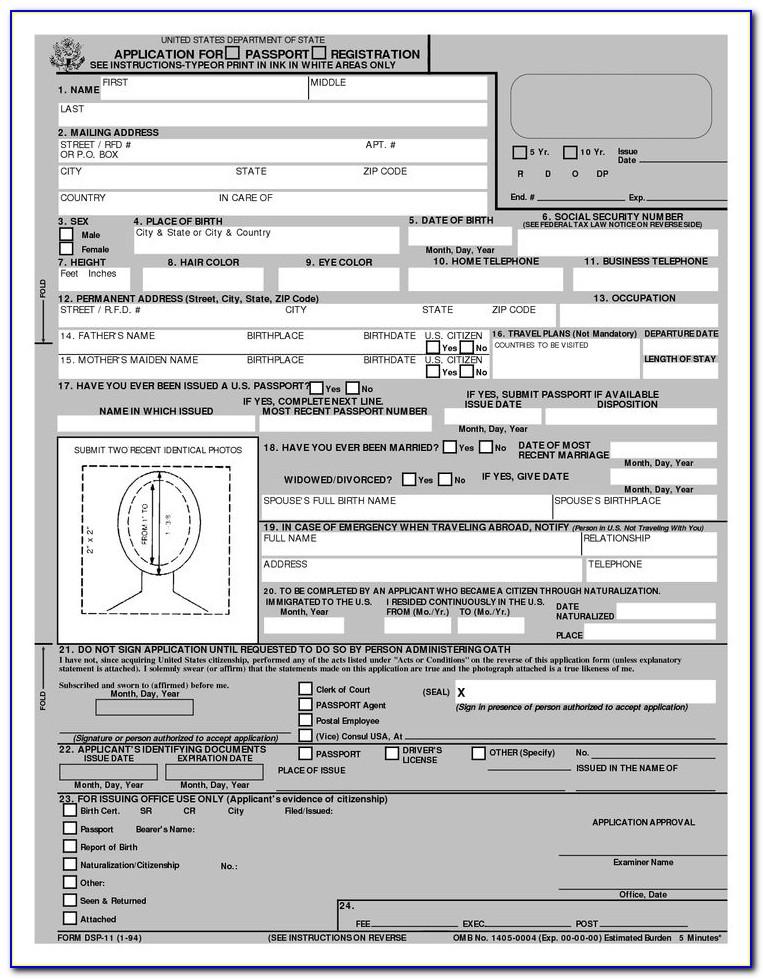 Renewal Of Passport Application Form Dfa