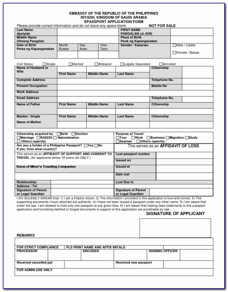 Passport Renewal Online Application Form E Passport Application Form Riyadh