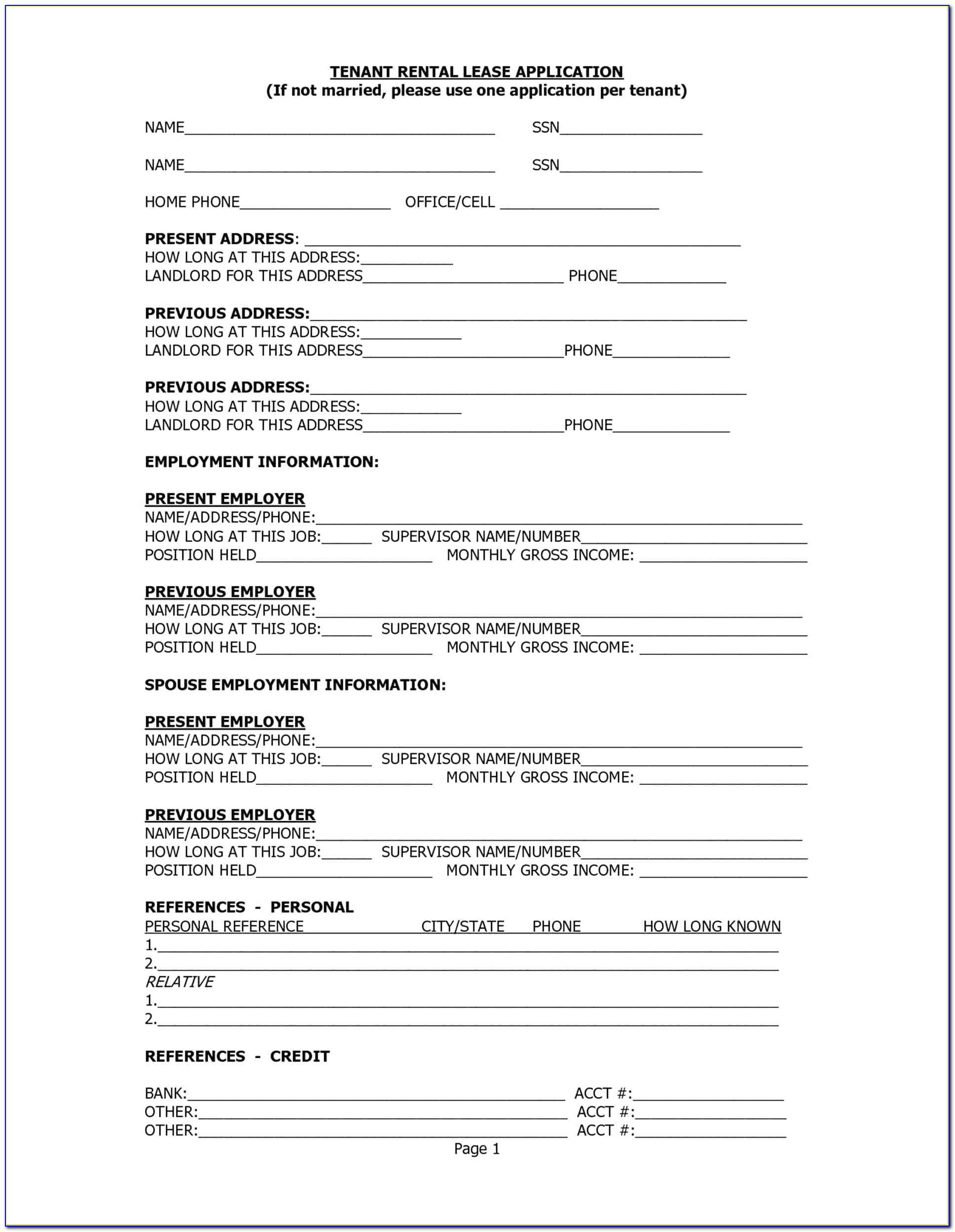 Rental Tenancy Agreement Form Alberta