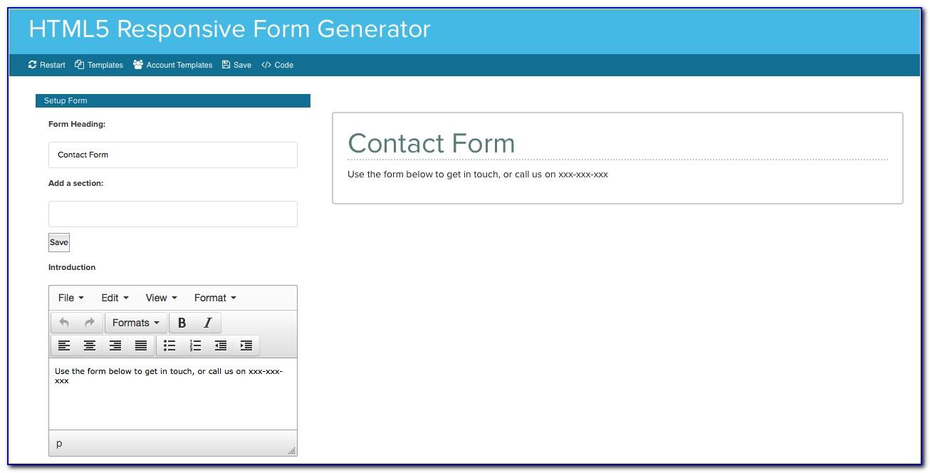 Responsive Form Generator