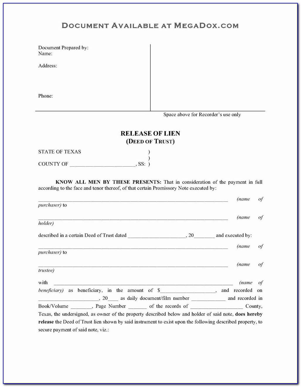 Revocable Trust Amendment Form