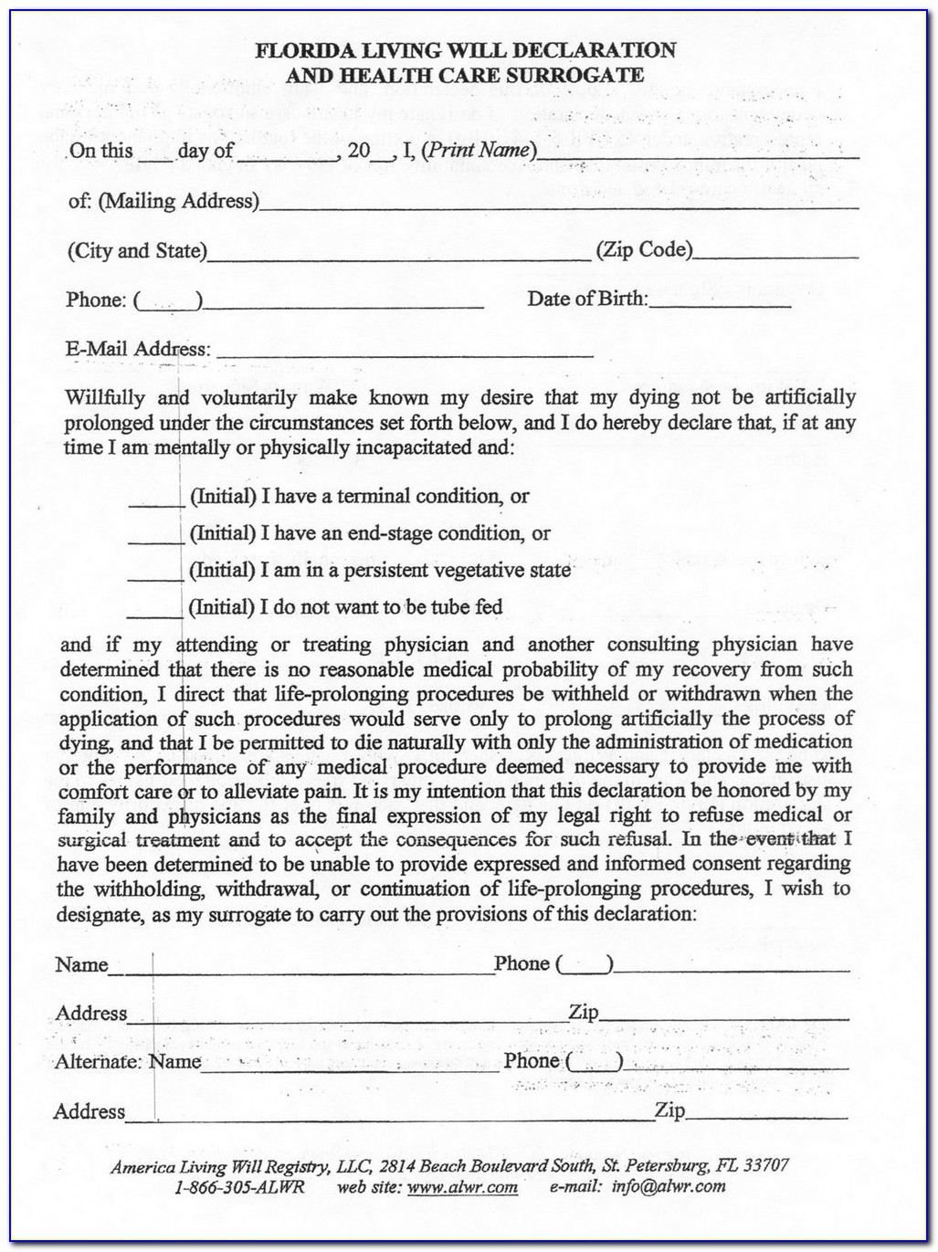 Revocable Trust Forms Florida