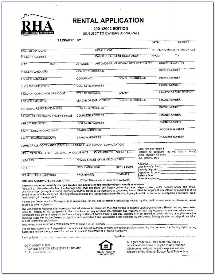 Rha Standard Form Apartment Lease