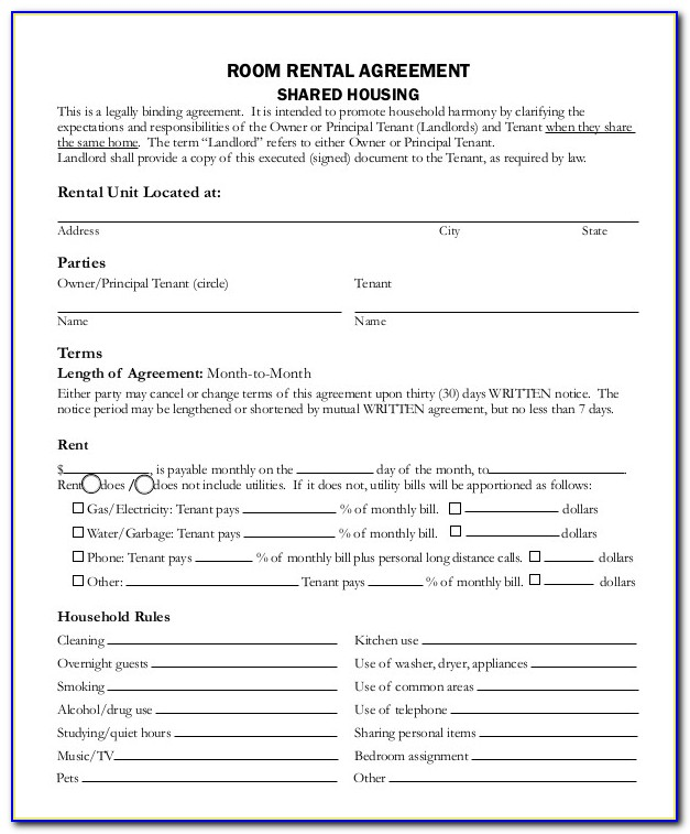 Room Rental Agreement 11 Free Word Pdf Documents Download Simple Room Rental Agreement Template Simple Room Rental Agreement Template