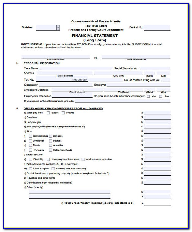 Sample Financial Report Format