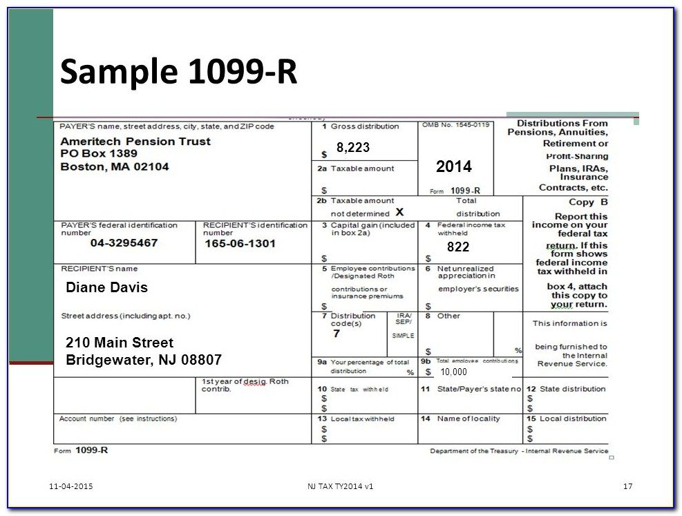 Sample Form 1099 Int