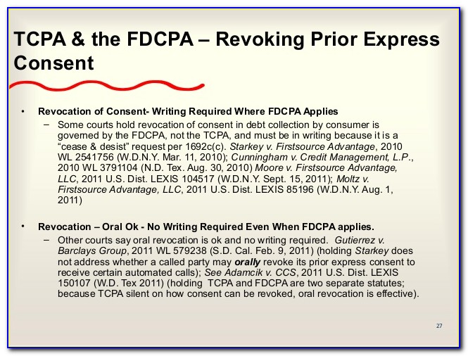 Sample Tcpa Consent Form