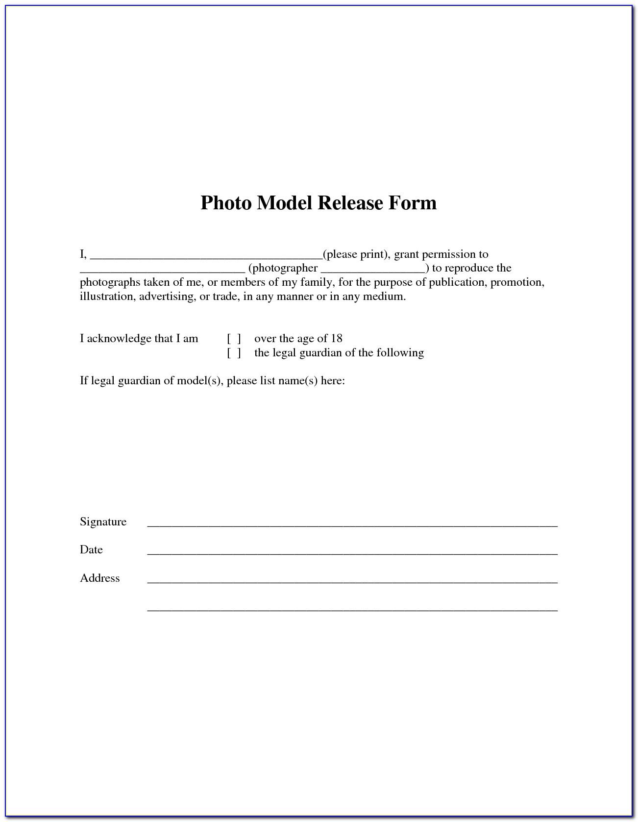 Simple Artwork Release Form
