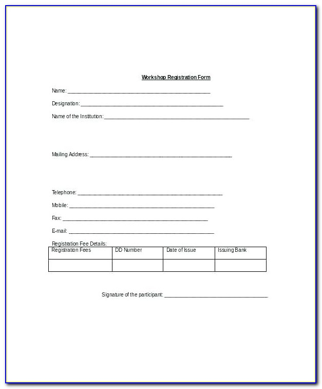 Simple Registration Form Template Html Css Free Download