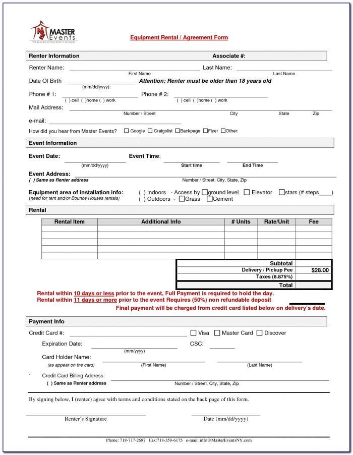 Simple Rental Application Form