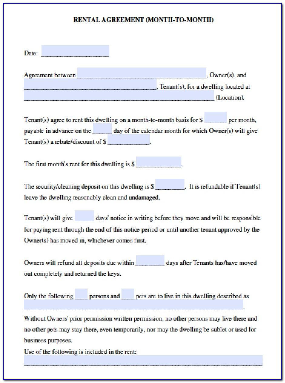 Simple Room Rental Agreement Form California