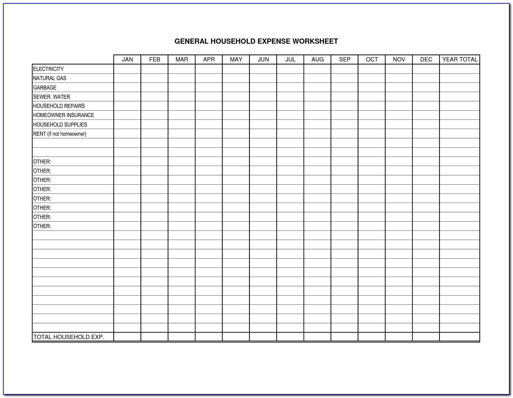 Small Business Bookkeeping Forms Printable