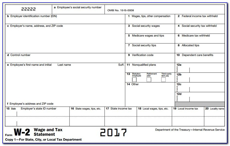 Social Security Tax W2 Form