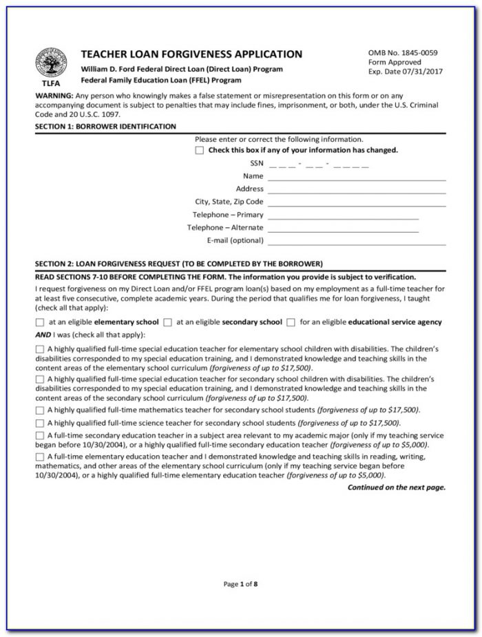 Tax Form For Student Loan Forgiveness