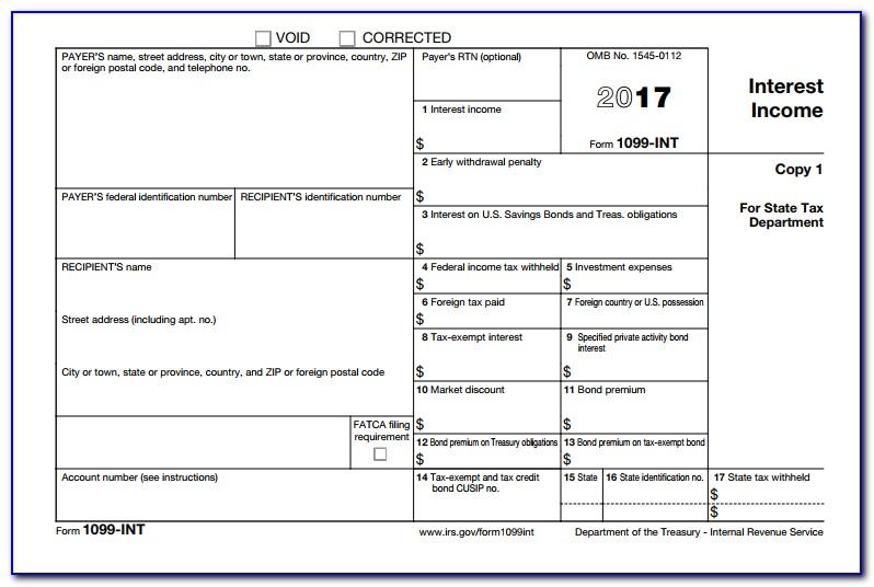 Tax Return Form 1099 G