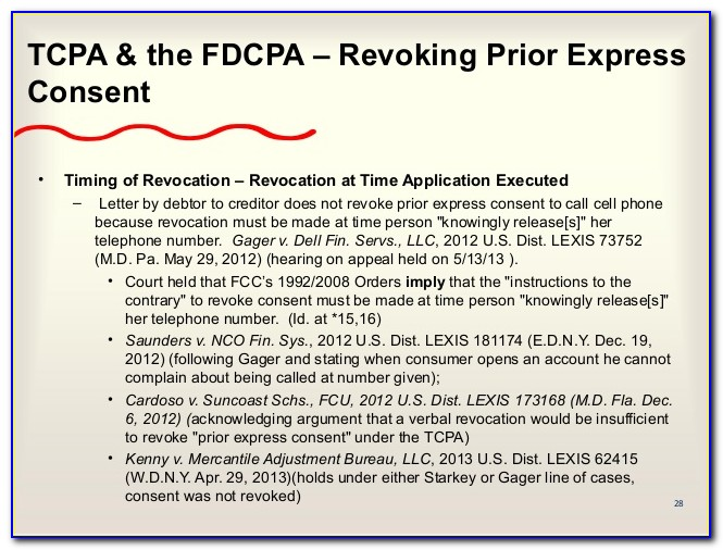 Tcpa Written Consent Form