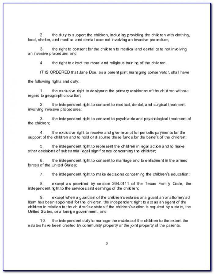 Texas Divorce Decree Forms Pdf