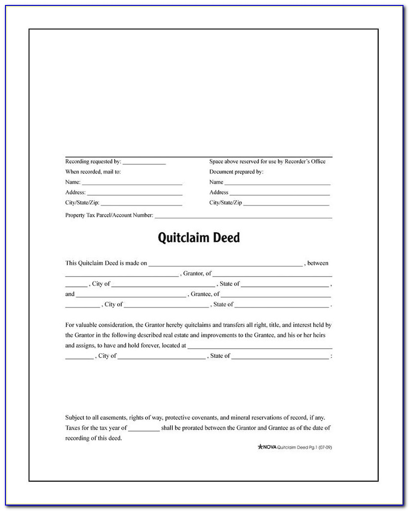 quick claim deed form texas  Texas Quit Claim Deed Form Travis County - Form : Resume ...