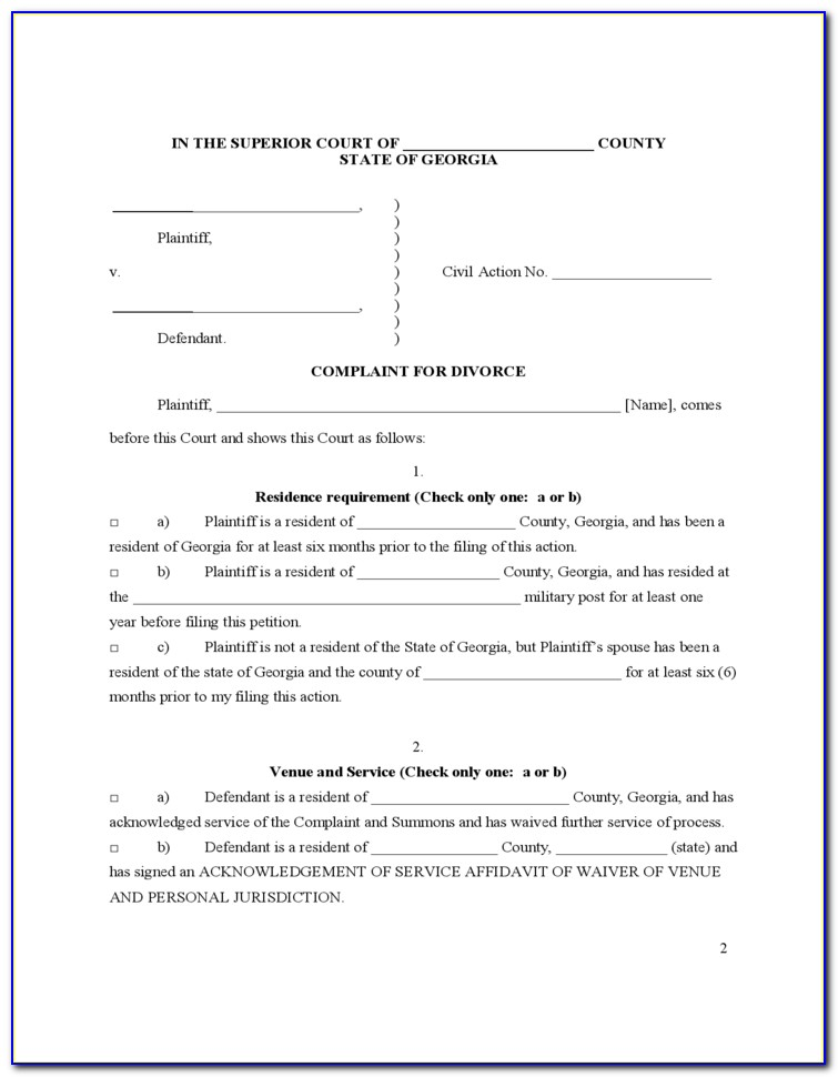 Uncontested Divorce Forms In Virginia