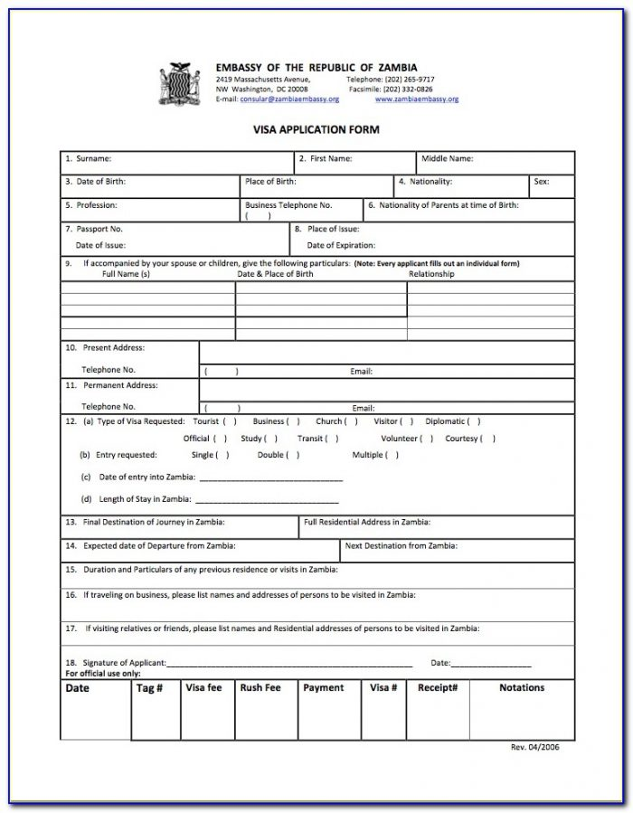 Vfs India Tourist Visa Application Form
