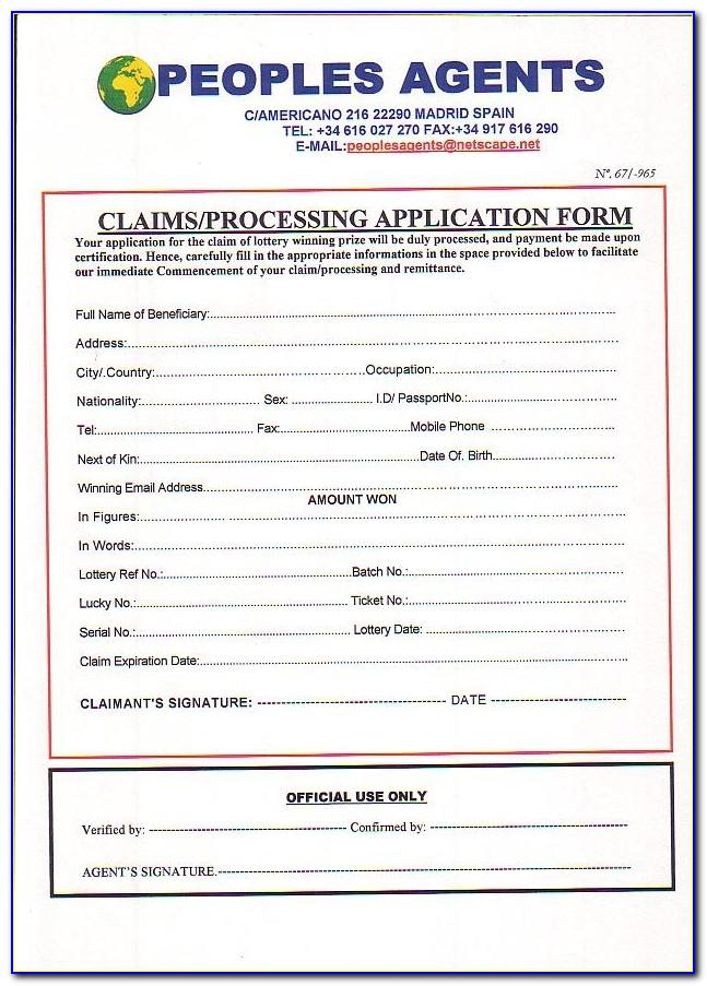 Vidal Health Claim Form Ecs