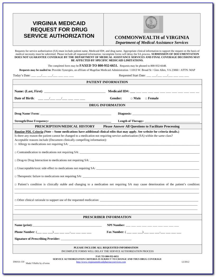 Virginia Medicare Prior Authorization Forms
