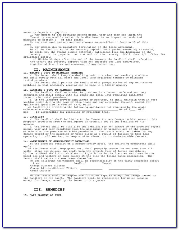Virginia Rental Agreement Form