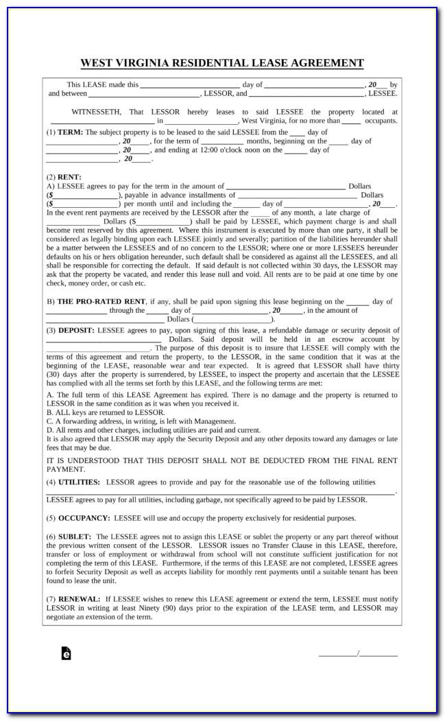 Virginia Room Rental Agreement Form