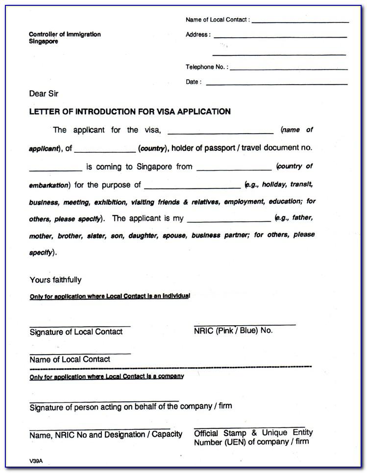 Visa Invitation Form