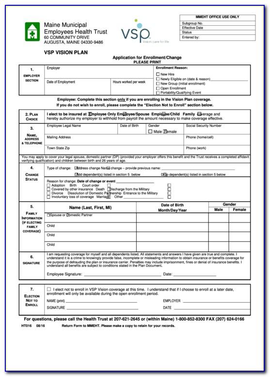 Vsp Member Reimbursement Form Pdf