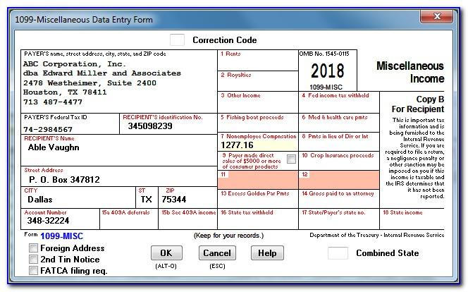 W2 Correction Form 2016
