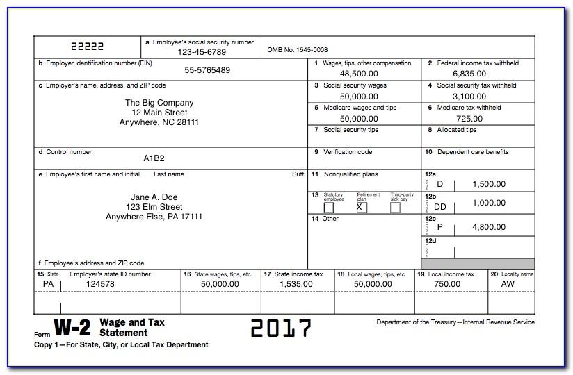 W2 Form 2014 Copy