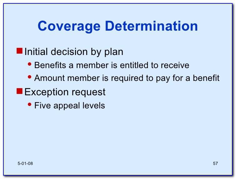 Wellcare Medicare Part D Coverage Determination Request Form