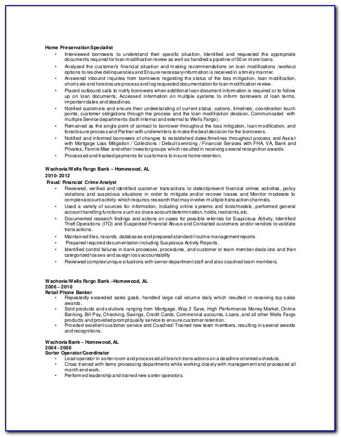 Wells Fargo Home Preservation 1 Forms