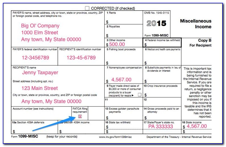 Where To File Form 1099 Misc Copy A