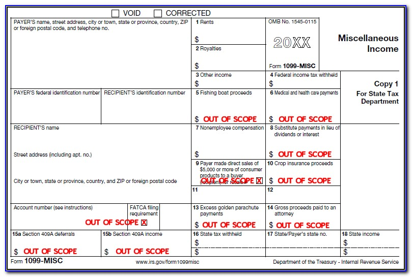 Where To Fill Form 1099 Misc