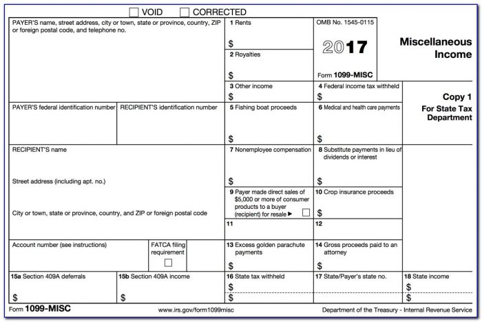 Where To Mail Form 1099 Misc In Texas