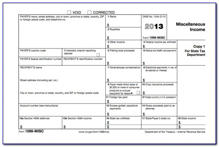 Where To Send Irs Form 1099 Misc