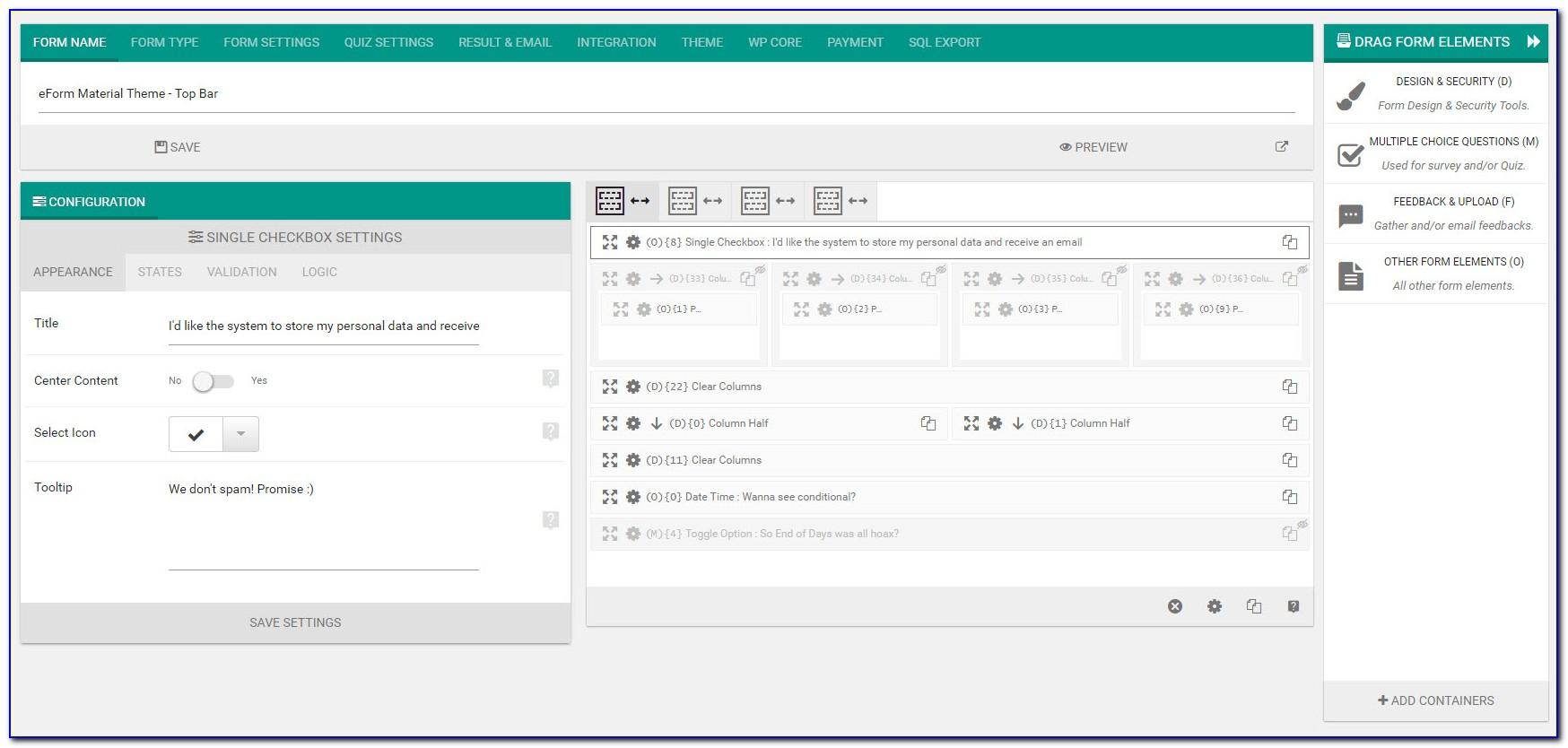 Wordpress Forms Builder Free