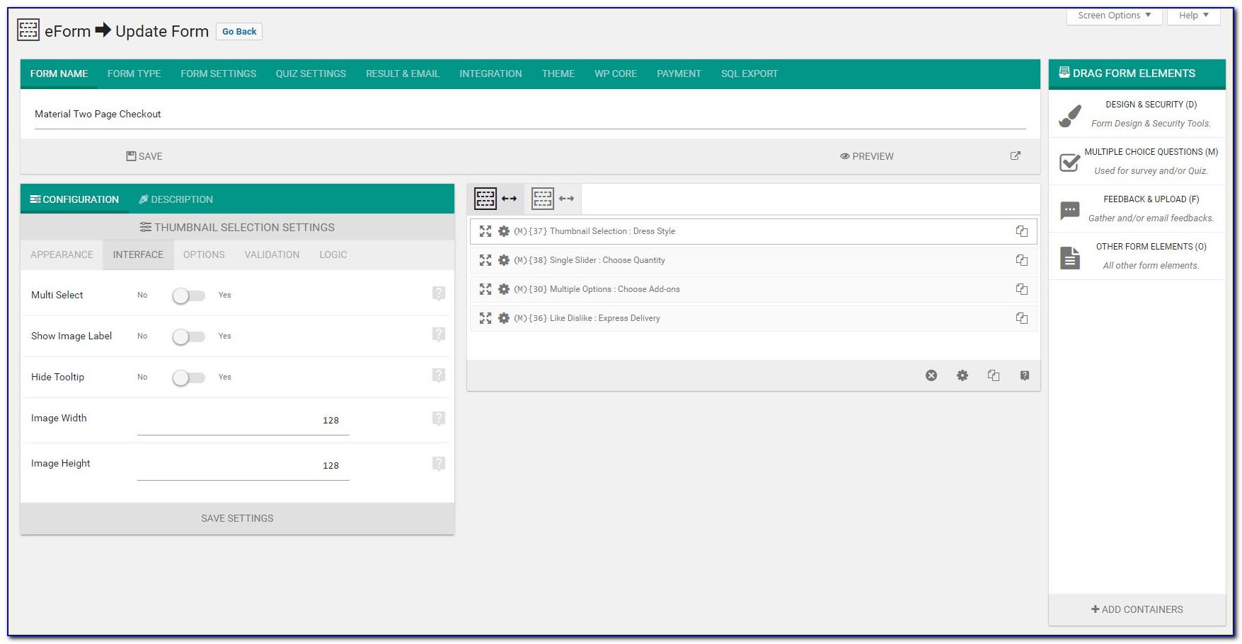 Wordpress Free Forms Builder Plugin